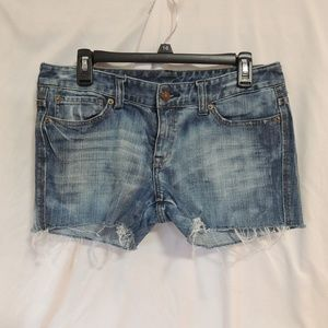 Express womens cut off Bleached jeans shorts 10
